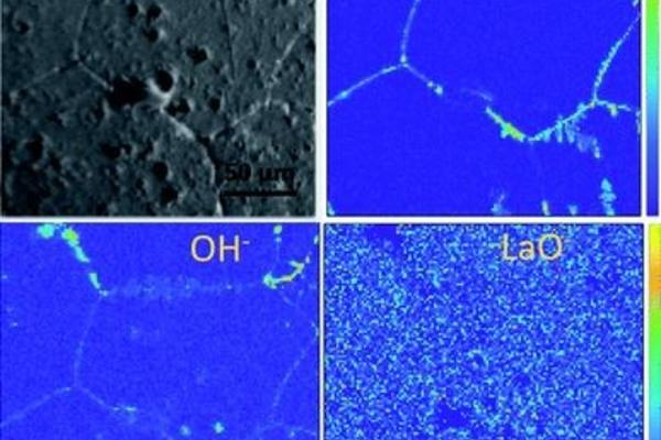 image of the tof sims negative secondary ion maps and optical image of an etched llzo sample