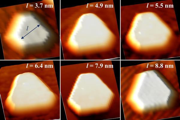 Measuring equilibrium-shaped Pd nanocrystals using STM