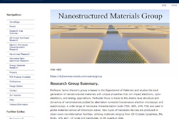 nanostructured materials group