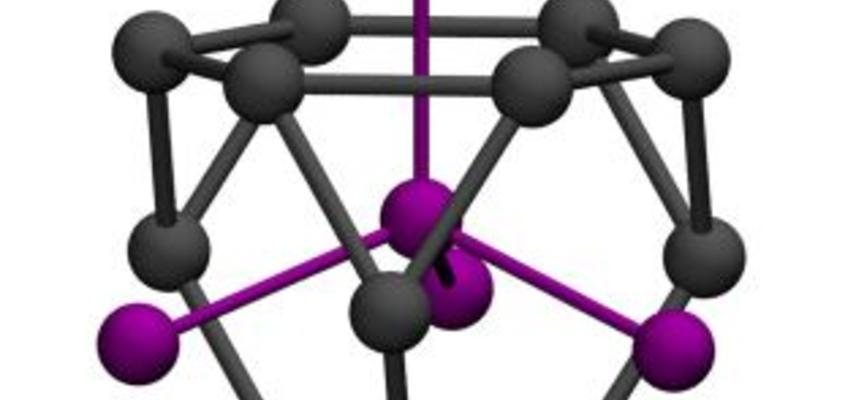 image of the local td environment of the re atom in the cubic laves phase