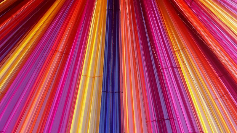 Various vibrant lines indicating technological progress