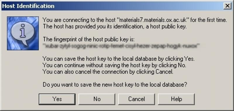 SecureShell host id