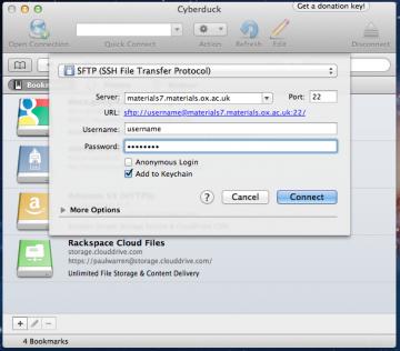 Mac Cyberduck login
