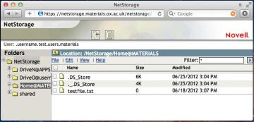 Mac NetStorage files
