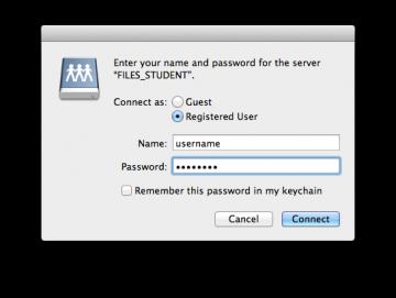 Mac share student login