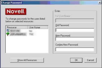 Novell change password